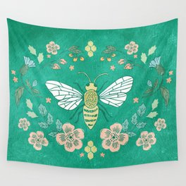 Bee Garden Wall Tapestry