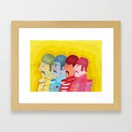John, Paul George and Ringo Framed Art Print