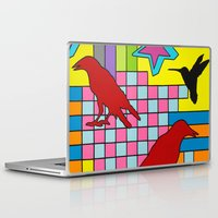 "onward Laptop & iPad Skins featuring ""3 CAWS"" by Monty Montgomery"