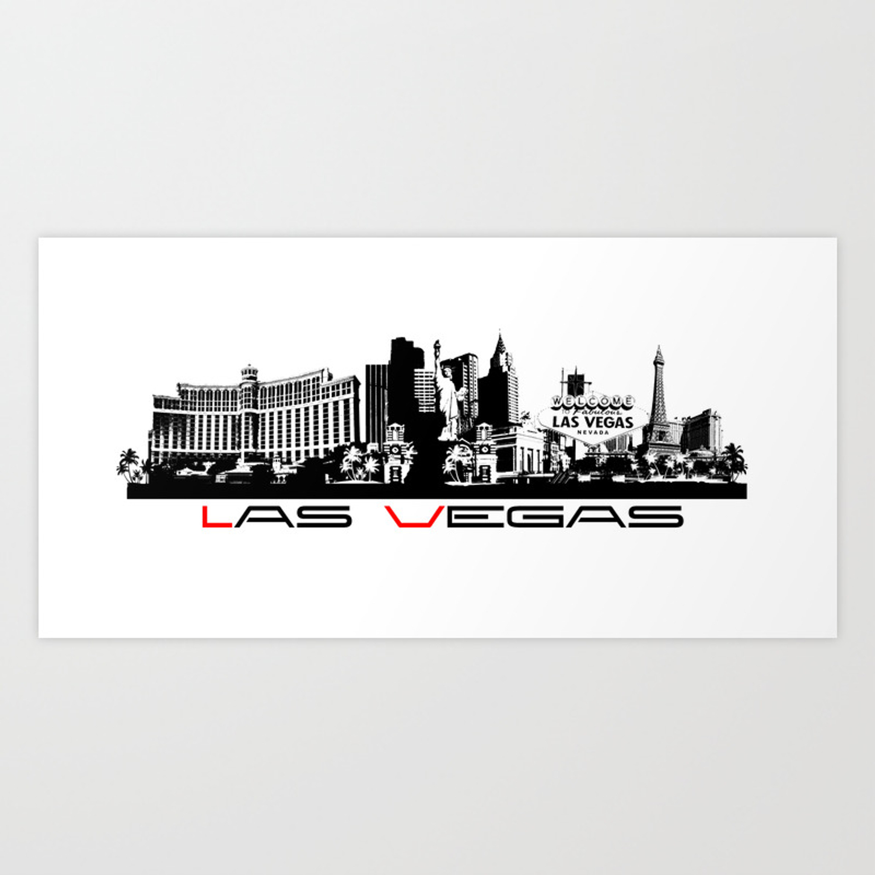 Google Image Result For Https Ctl S6img Com Society6 Img Kfqlfmlbgqc8x7jxhzd3450f2tw W 1500 Prints Artwork S6 0069 A 28410383 Vegas Skyline Las Vegas Vegas