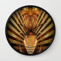predator Wall Clocks featuring Predator by Robin Curtiss