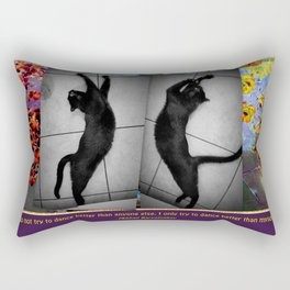 Cat Dance Rectangular Pillow