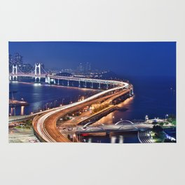 Gwangandaegyo Bridge (Busan, South Korea) Rug
