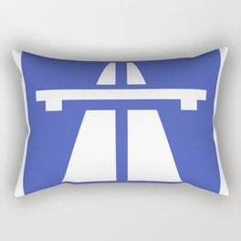 Autobahn Sign Rectangular Pillow