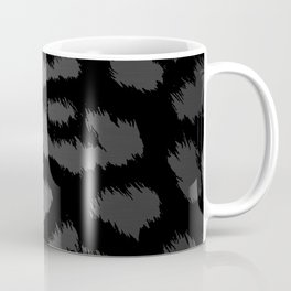 Black & Gray Metallic Leopard Print Coffee Mug
