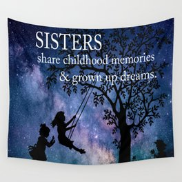 Sisters Quote Wall Tapestry