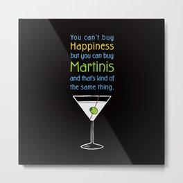 Martini Happiness Metal Print