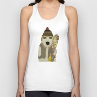 snowboarding Tank Tops featuring murphy by bri.buckley