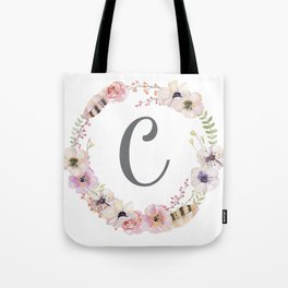 Floral Wreath - C Tote Bag