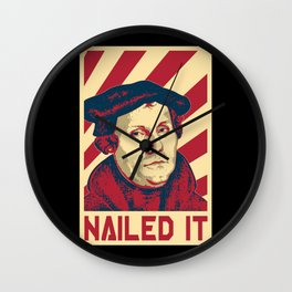 Martin Luther Retro Propaganda Wall Clock