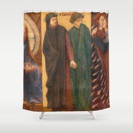 Dante Gabriel Rossetti - Paolo and Francesca da Rimini Shower Curtain