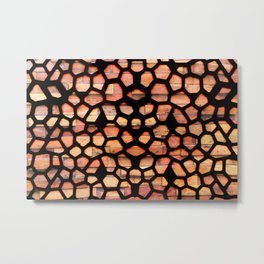 Colourful abstract pattern design Metal Print