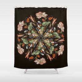 Flemish Floral Mandala 3 Shower Curtain