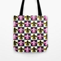 fleur de lis Tote Bags featuring Fleur de lis pattern by Rceeh