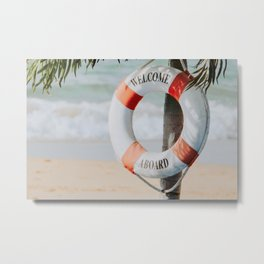 Welcome Abroad Metal Print