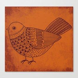 Retro Pigeon Canvas Print
