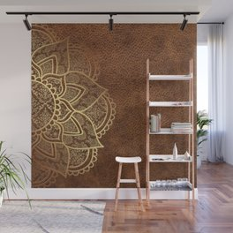 Mandala - Leather Wall Mural