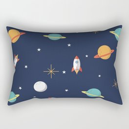 Space Pattern Rectangular Pillow