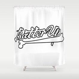 batter up skeleton bones Shower Curtain