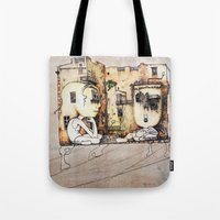kids Tote Bags featuring Kids by Andreas Derebucha