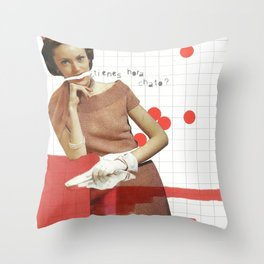 tienes hora, chato? Throw Pillow