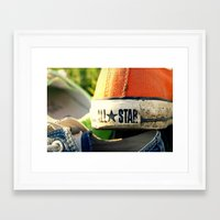 converse Framed Art Prints featuring Converse by americansummers