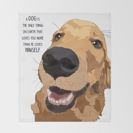 Golden Retriever Love Throw Blanket