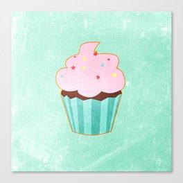 Cupcake tasty, sweet illustration Canvas Print