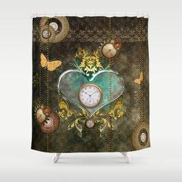 Steampunk, noble design Shower Curtain