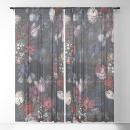Midnight Forest VI Sheer Curtain