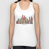 kansas Tank Tops featuring kansas city Missouri skyline by bri.buckley