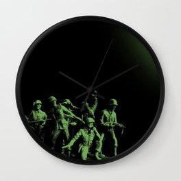 Plastic Army Man Battalion Black and Green Wall Clock