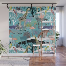Savannah Fauna Wall Mural