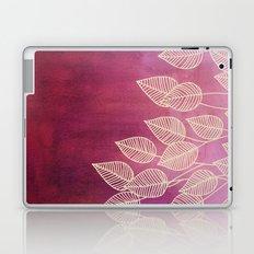 Magenta Garden - watercolor & ink leaves Laptop & iPad Skin