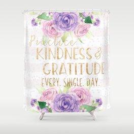 Kindness & Gratitude Shower Curtain