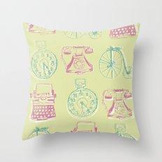 Girly Twist Steampunk Inspired Print Throw Pillow