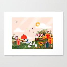 Loungin in the sun Canvas Print