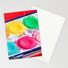Artist Paint Box Colorful Palette Stationery Cards