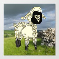 lamb Canvas Prints featuring Lamb by Knot Your World