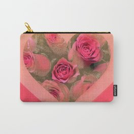 The roses in card (copyright Elize K) Carry-All Pouch
