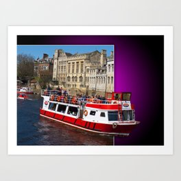 York Boat out of bounds Art Print