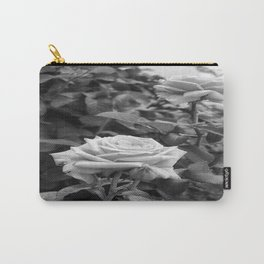 Pink Roses in Anzures 5 B&W Carry-All Pouch
