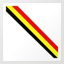 Flag of belgium 4 belgian,belge,belgique,bruxelles,Tintin,Simenon,Europe,Charleroi,Anvers,Maeterlinc Art Print