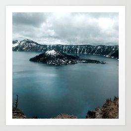 Mountain Lake View Art Print
