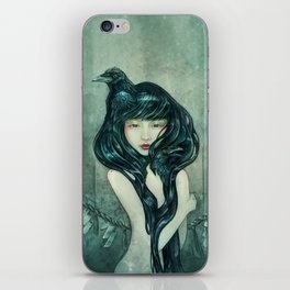 Oracle of the sodden raven iPhone Skin