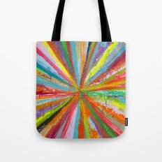 Exploding Rainbow Tote Bag