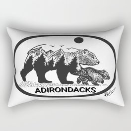 """Adirondack Mama""  Baby Bear Cub, Adirondacks, ADK, Black Bear Art, Bears Decor Wall Art Rectangular Pillow"