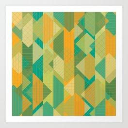Grids, Lines, Squares Art Print