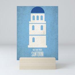 Santorini - Minimalist Board Games 01 Mini Art Print