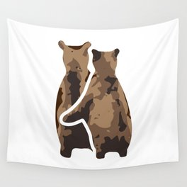 BEAR COUPLE Wall Tapestry